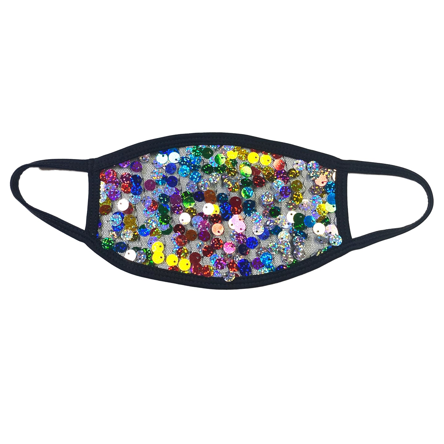 Mardi Gras Sequin Dust Mask