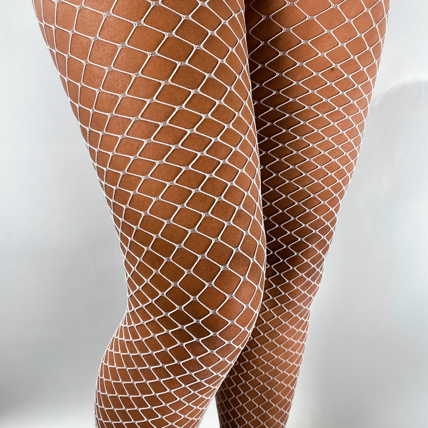 White Diamond Fishnet Pantyhose