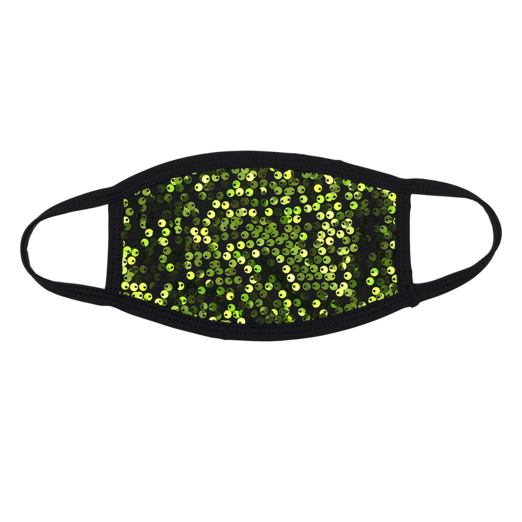 Peppermint Sequin Dust Mask