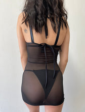 Load image into Gallery viewer, Sheer Lace Me Up Mini Dress