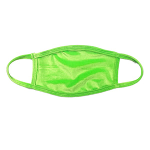 Cyber Lime Velvet Dust Mask
