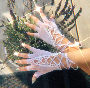 Frost Lace Up Gloves