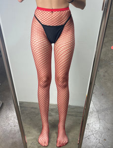 Rojo Diamond Fishnet Tights