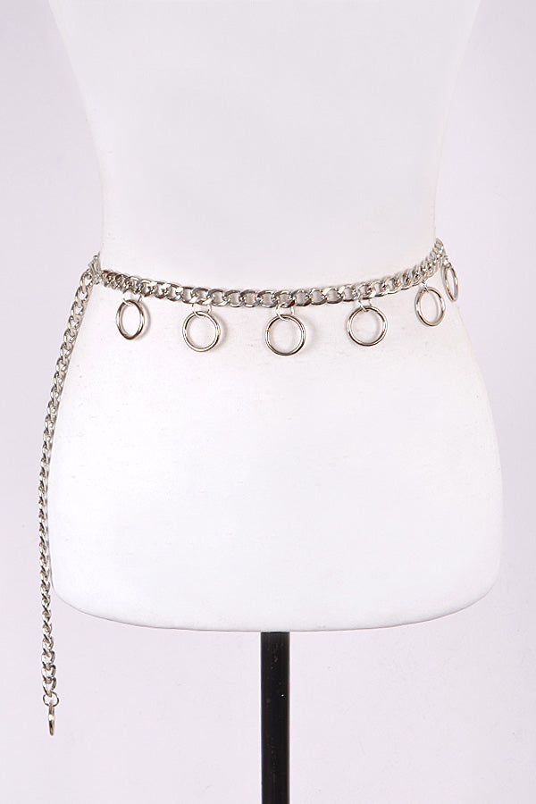 Double Ring Chain Belt