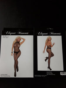 Elegant Moments Fishnet Halter Body Stocking