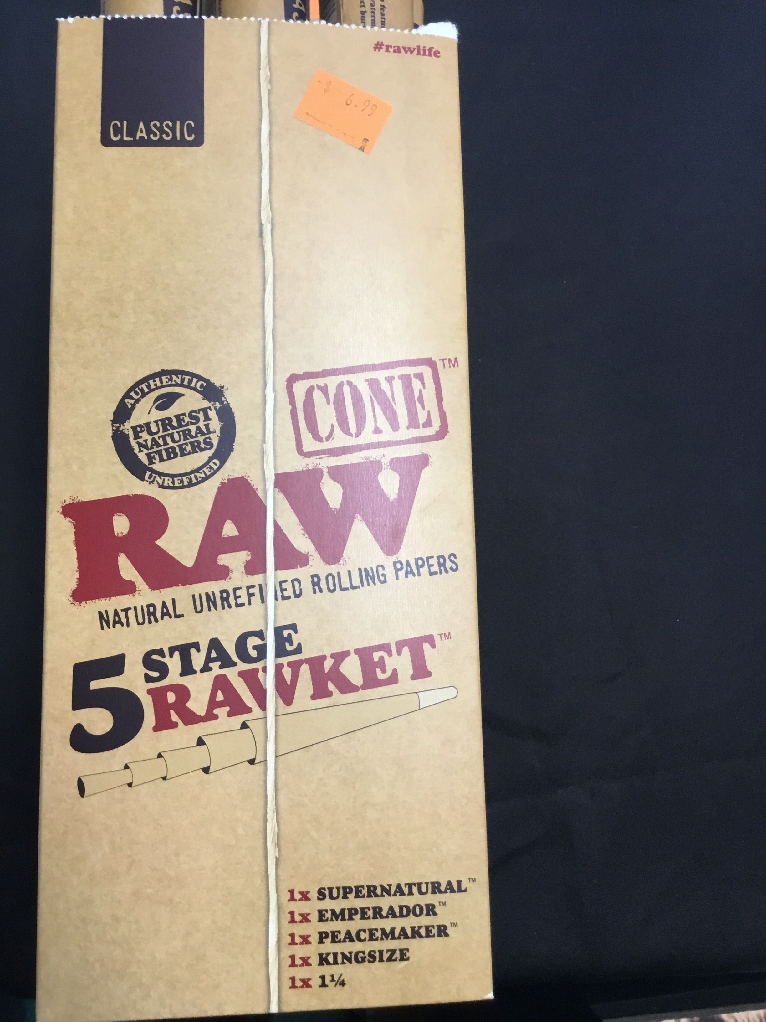 Raw 5 Stage Rocket Cones