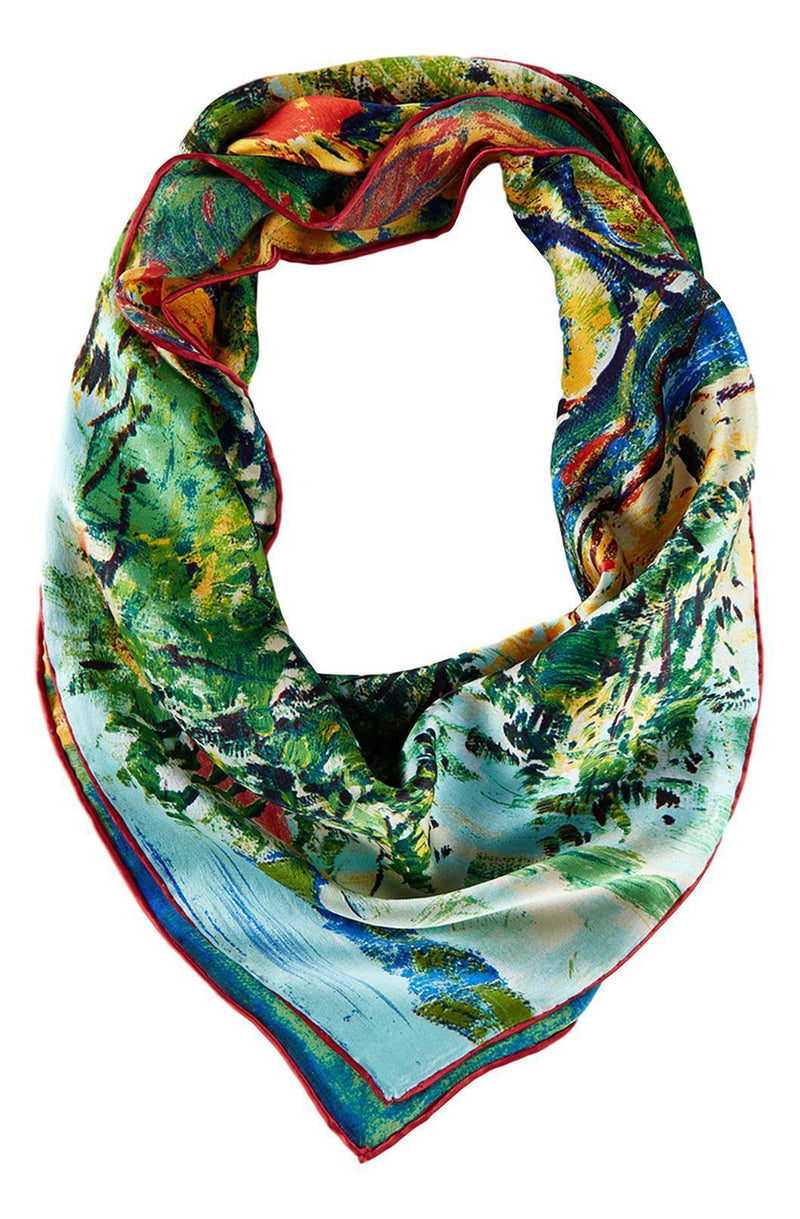 Yangtze Store Large Square Silk Scarf Classic Painting SZD207