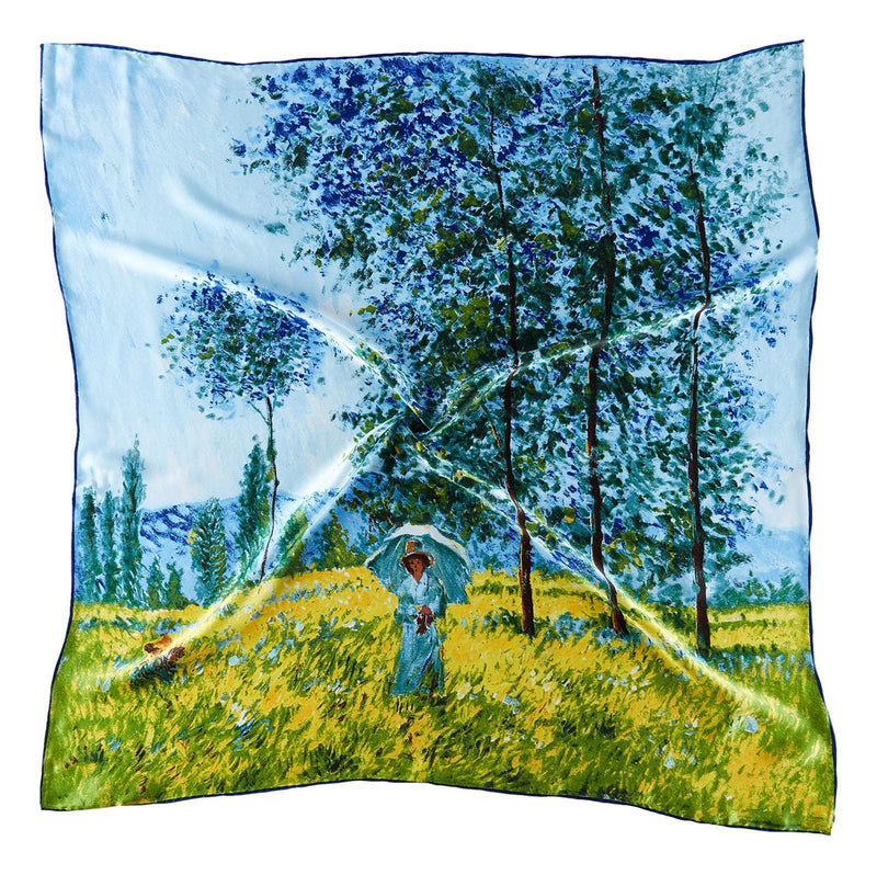 Yangtze Store Large Square Silk Scarf Classic Painting SZD210