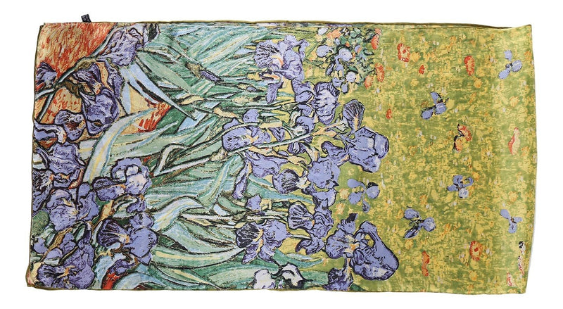Yangtze Store Long Charmeuse Satin Silk Scarf with Classic Vangogh Painting Print LZD110