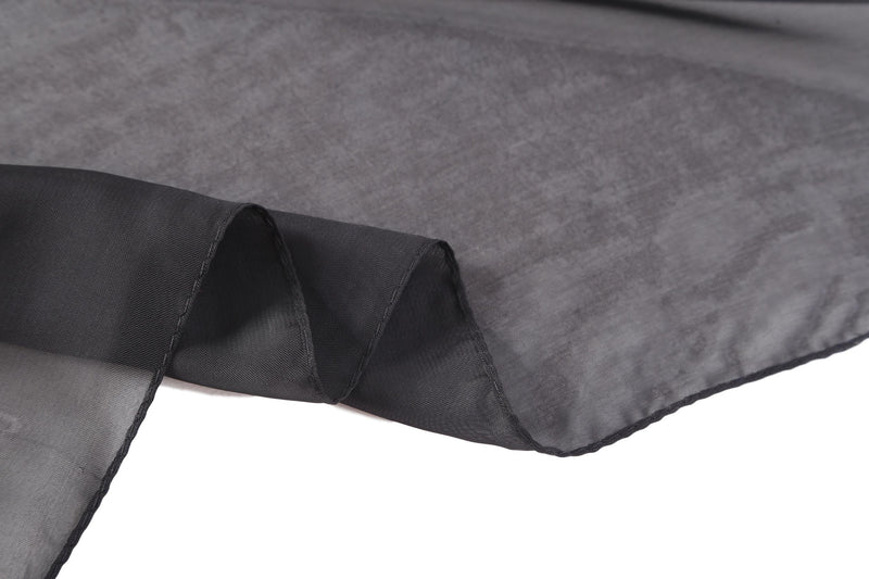Yangtze Store Long Chiffon Scarf Solid Black Color CHL402