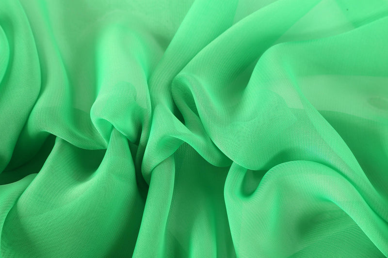 Yangtze Store Long Chiffon Scarf Solid Green Color CHL404