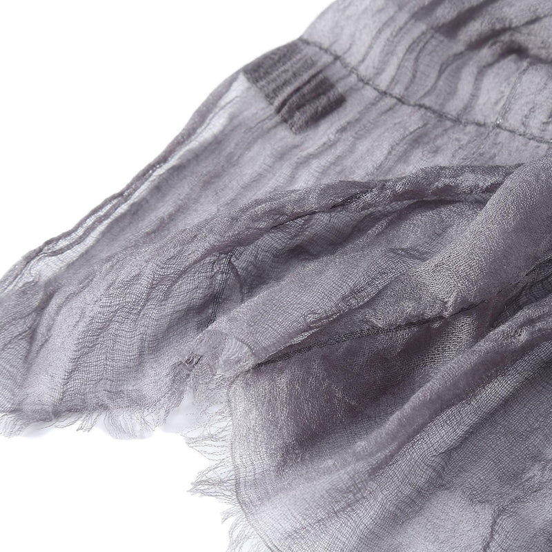 Luxurious Extra Wide 100% Cashmere Scarf & Wrap Gray Color Plaid Print CSH233