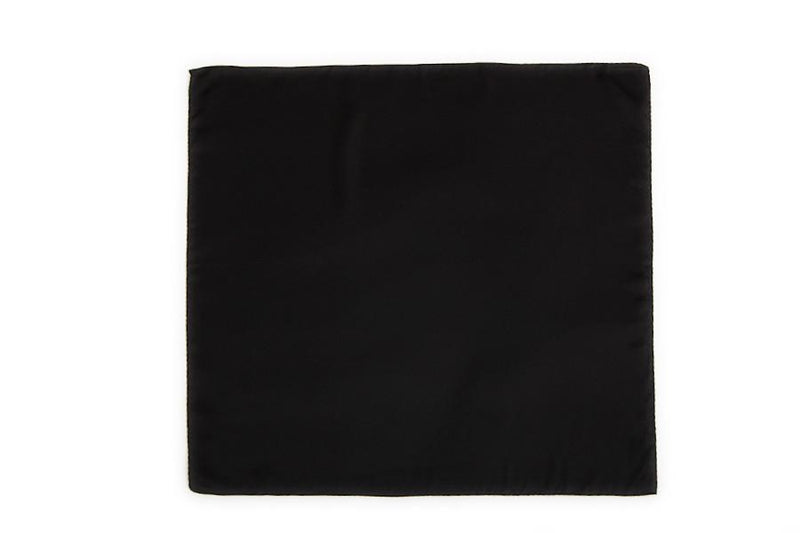 Yangtze Store Small Square Silk Satin Scarf Plain Black Color XFJ308