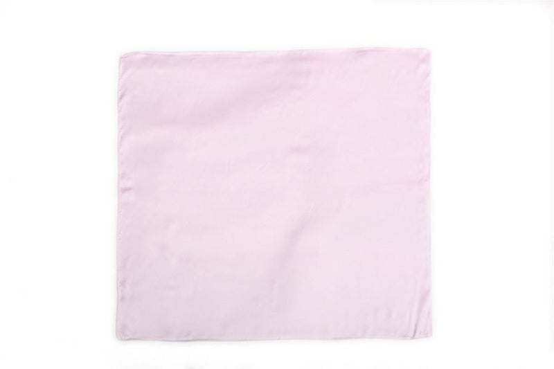 Yangtze Store Small Square Silk Satin Scarf Plain Light Pink Color XFJ302