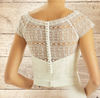 Beautiful Boho Lace Bolero - Wedding Dress Bridal Top, Ivory Lace