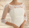 Beautiful Stretch Tulle & Lace Bolero - Wedding Dress Cover Up