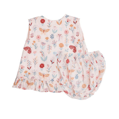 Butterfly Garden Ruffle Top and Bloomer