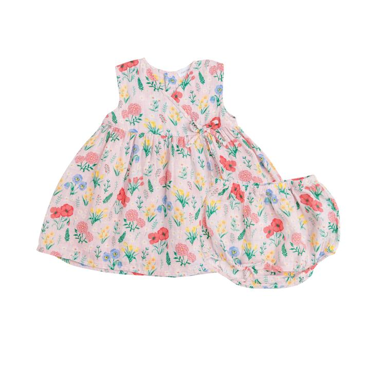 Summer Floral Kimono Dress and Diaper Cover