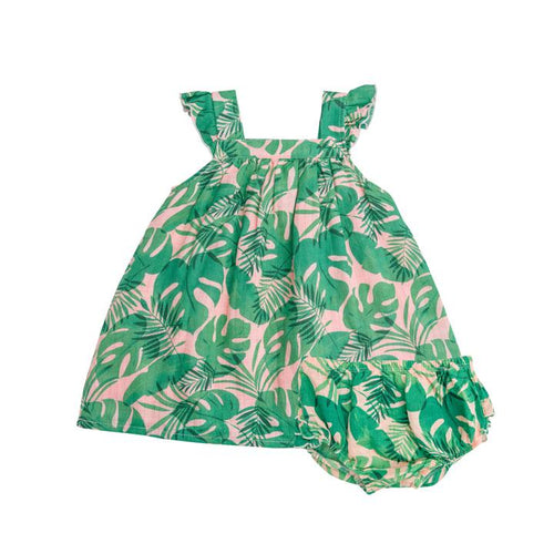 Tropical Leaves- Sundress/Diaper Cover