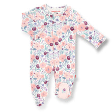Load image into Gallery viewer, mayfair organic cotton magnetic footie 0-3M