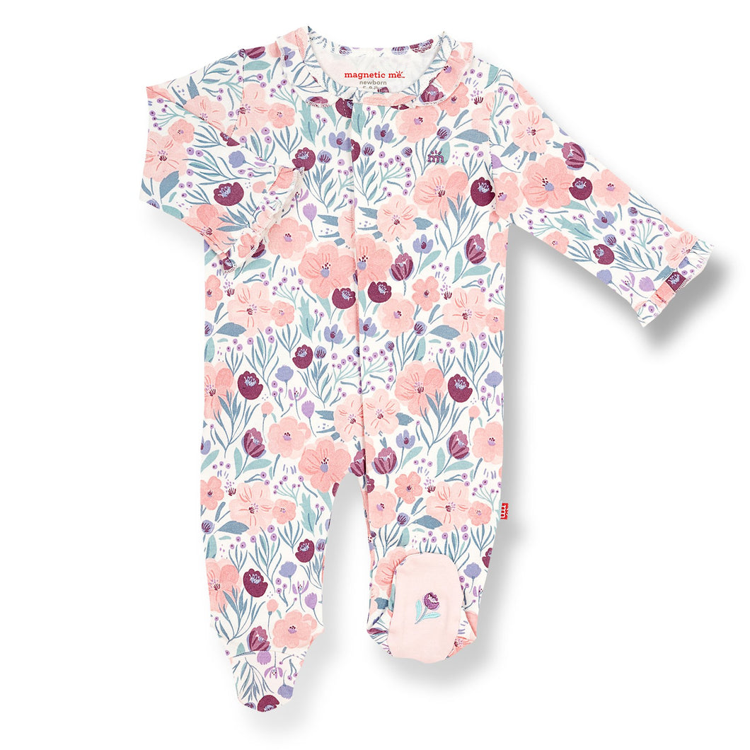mayfair organic cotton magnetic footie 0-3M