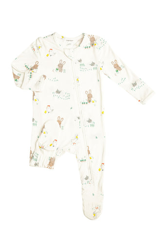 Little Farmer Boy Zipper Footie