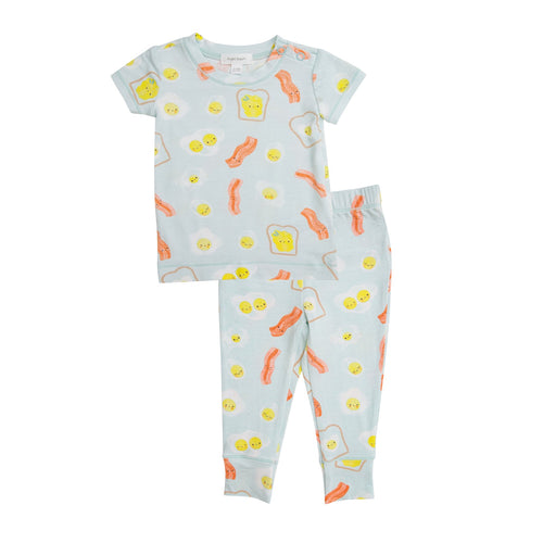 Bacon And Eggs Lounge Wear Set Blue