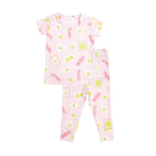 Bacon And  Eggs Lounge Wear Set Pink