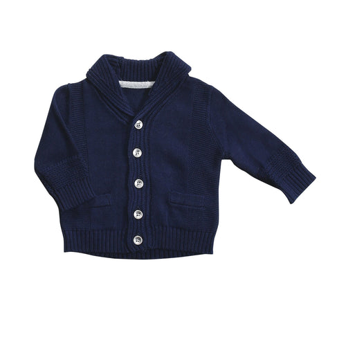 Shawl Collar Cardigan- Marine