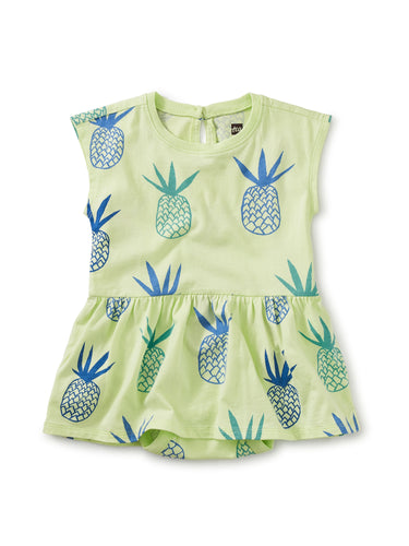 Skirted Baby Romper - Pineapples in Paradise