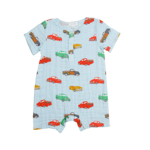Vintage Trucks Henley Shortall Blue