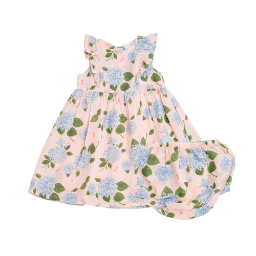 Hydrangea Dress and Diaper Cover Pink