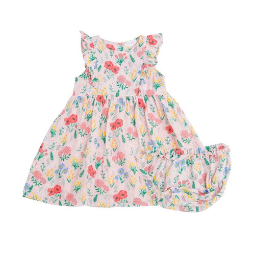 Summer Floral Dress and Diaper Cover