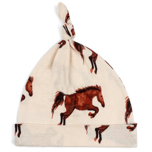 Natural Horse Organic Knotted Hat