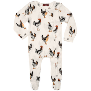 Chicken Organic Footed Romper