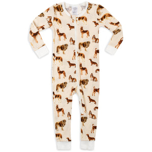 Natural Dog Organic Zipper Pajama