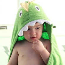 Load image into Gallery viewer, Dinosaur Hooded Towel
