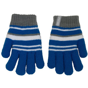 Boys Acrylic Knit Gloves Royal/Grey
