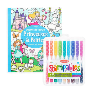 Princesses & Fairies Stampables Coloring Pack