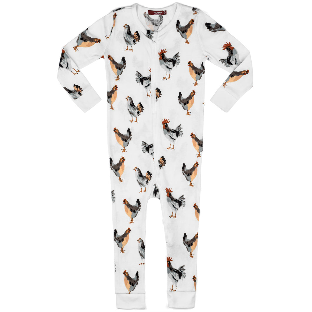 Chicken Organic Zipper Pajama