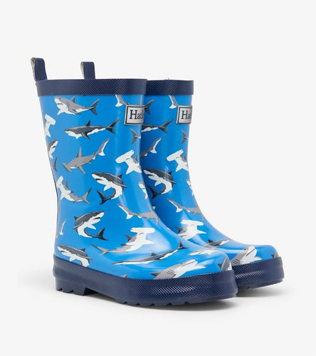 Deep-Sea Sharks Shiny Rain Boots