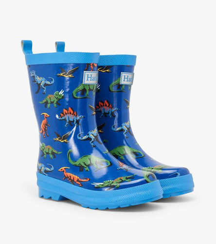 Friendly Dinos Shiny Rain Boots