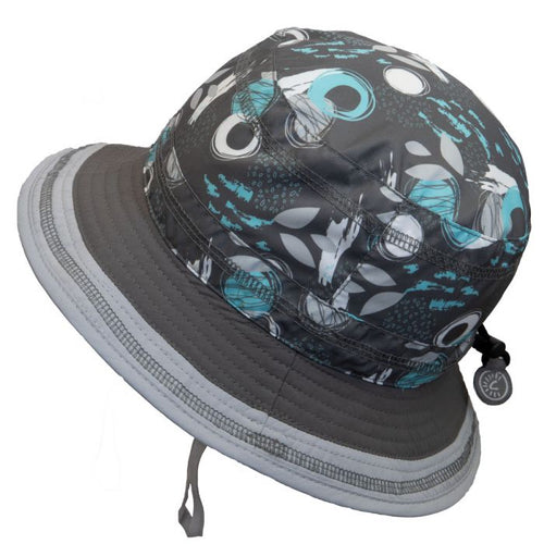 Grey Print Bucket Hat