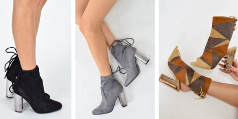 Metallic Ankle Boots Autumn Winter Footwear Trends