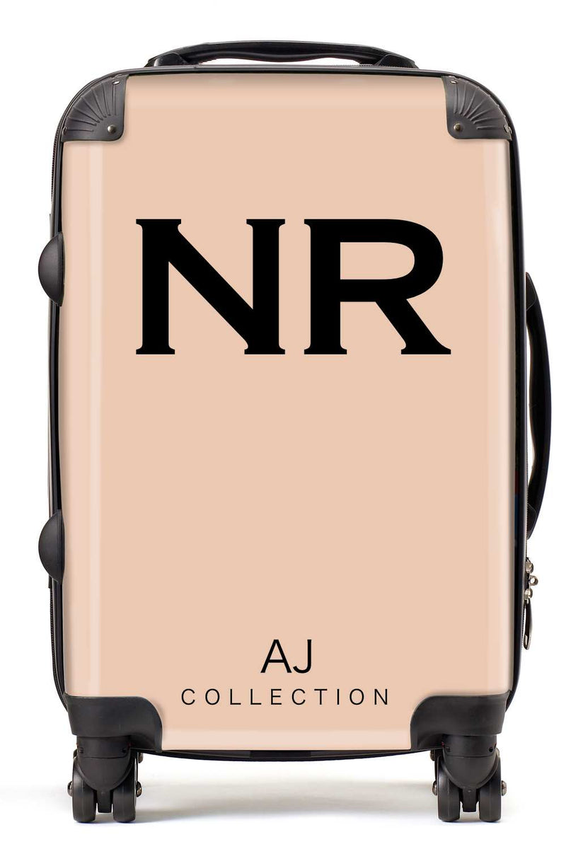 Personalised Initial Nude Suitcase - Small Cabin Luggage