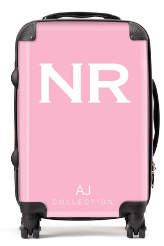 Personalised Initial Pink Suitcase - Small Cabin Luggage