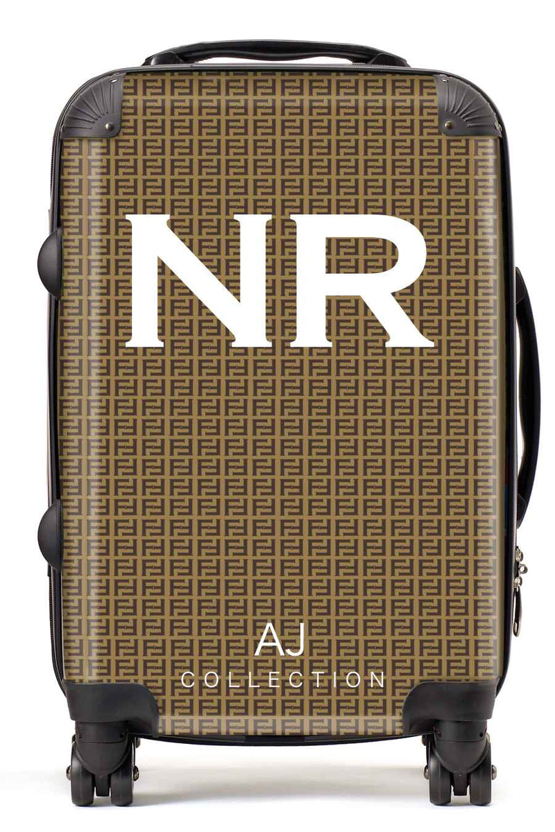 Personalised Initial Patterned Suitcase - Small Cabin Luggage