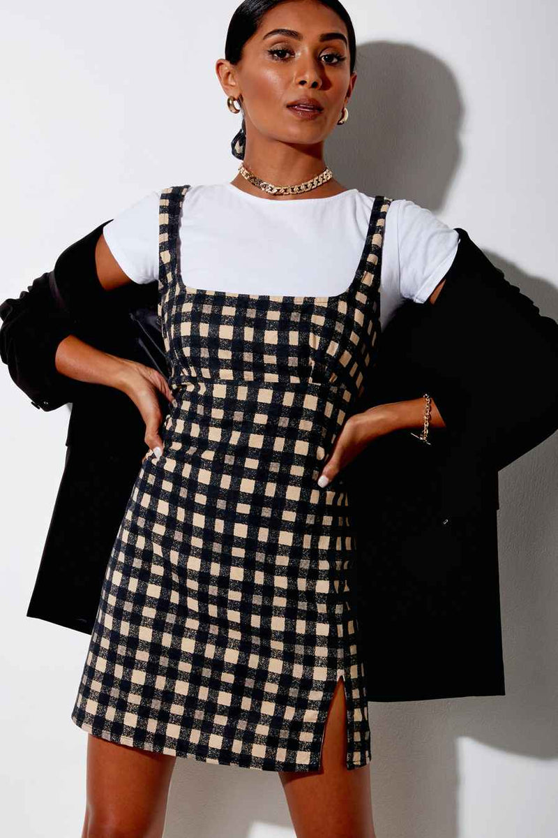 Motel Rocks Mehra 90's Grunge Dress - Black Check - 2