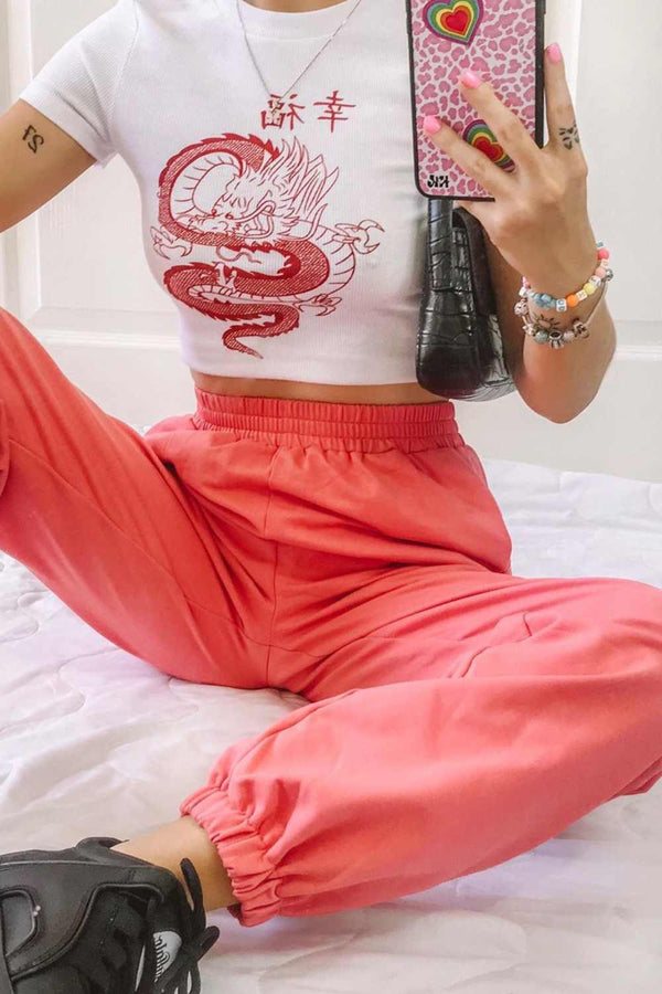 Oversize 90's Joggers - Pink