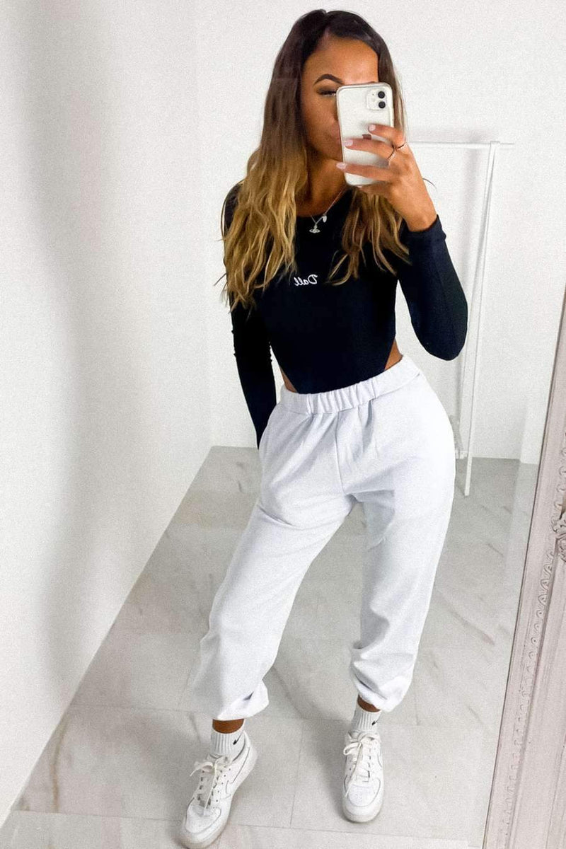 Oversize 90's Joggers - White